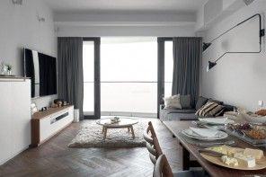 Shanghai Apartment Interior Design Ideas. Spacious living with the dining area