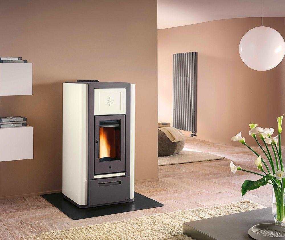 Modern Interior Fireplace Main Types. Pellet fireplace