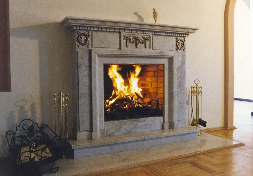 Modern Interior Fireplace Main Type. Classic royal design