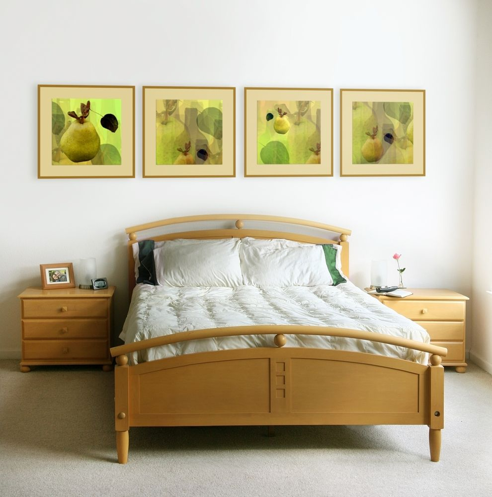 Modern Interior Pictures Placement Advice. Greenish themed pictures set the mood in the room