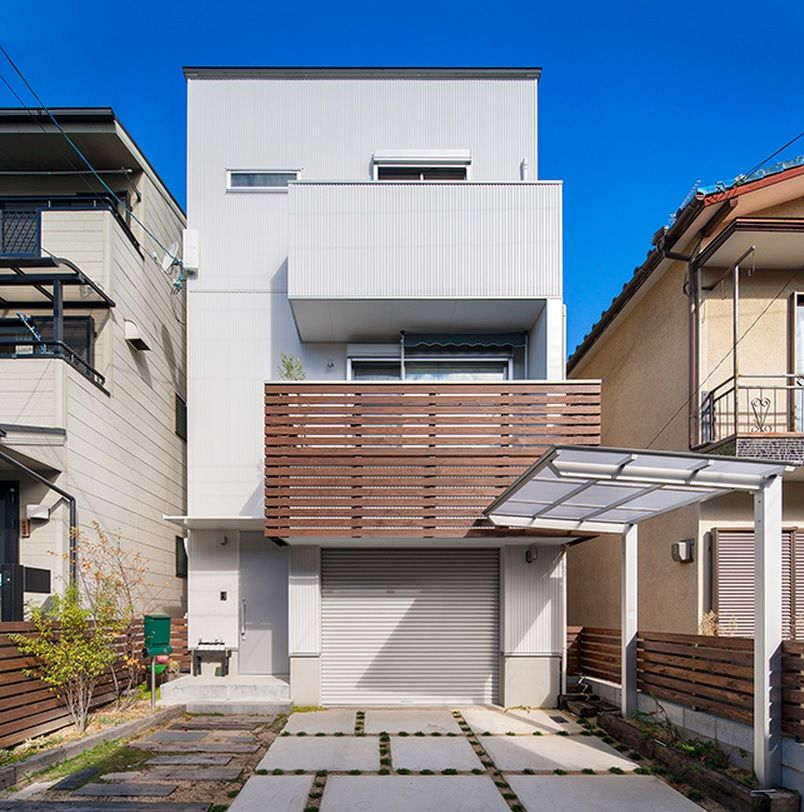Japanese Private House Decorating Ideas. exterior of the high oriental home