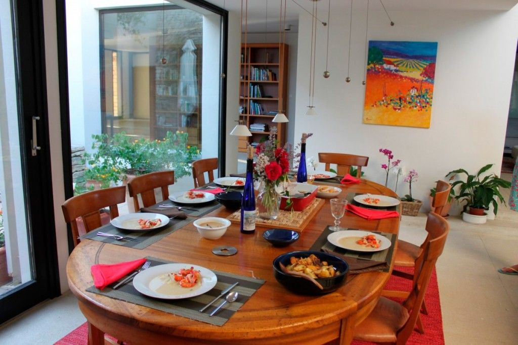 Picture for appetizing in bright wooden interior of the kitchen