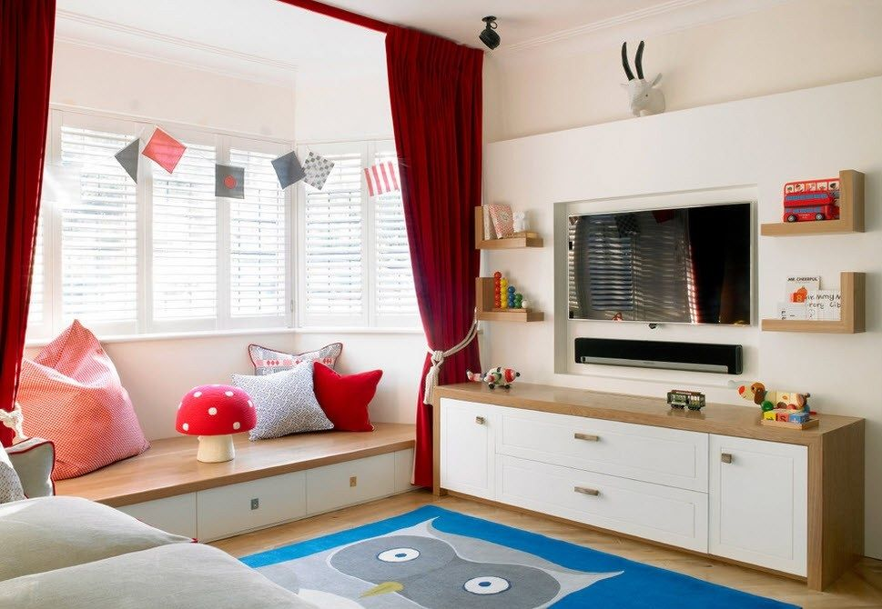 Сhildren`s Room Interior Design Ideas 2015. Red neat ambience for younf lady