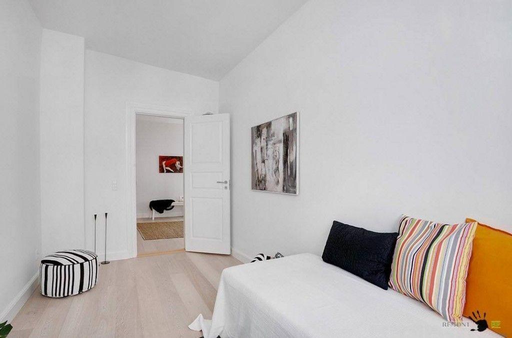 Bedroom decorating ideas in the Danish apartment in Scandinavian style