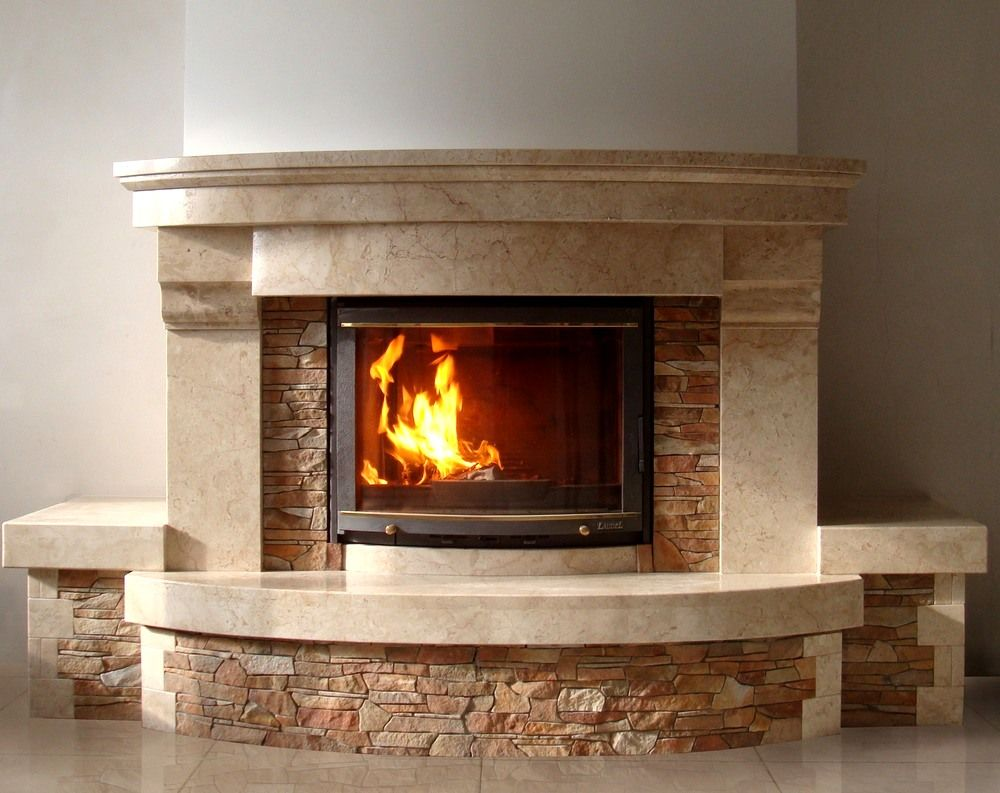 Modern Interior Fireplace Main Types. Built-in furnace design