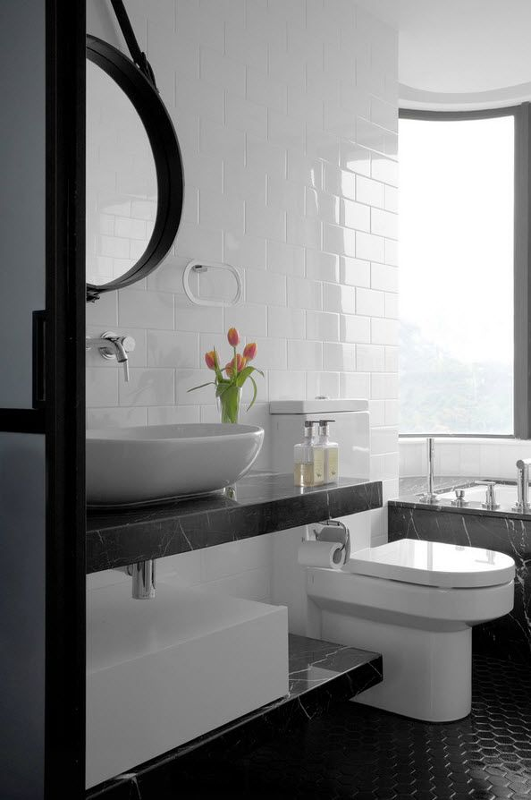 Shanghai Apartment Interior Design Ideas. A bit of floral motifs in the perfectly designed bathroom