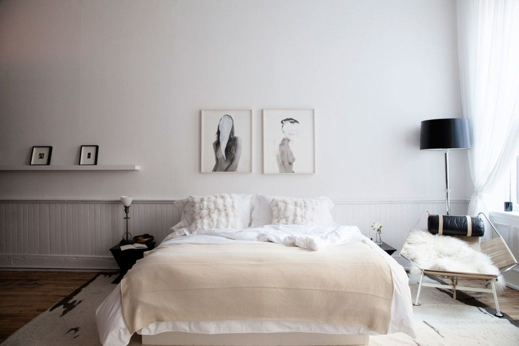 Modern Interior Pictures Placement Advice. Original idea of locating your photos above the bed