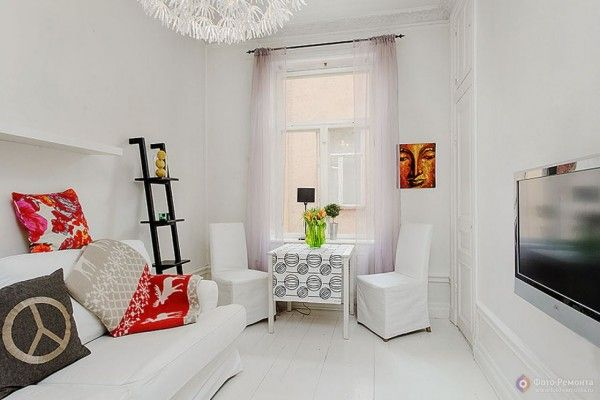 Modern Small Studio Apartment Space Increasing Methods. White kids` room