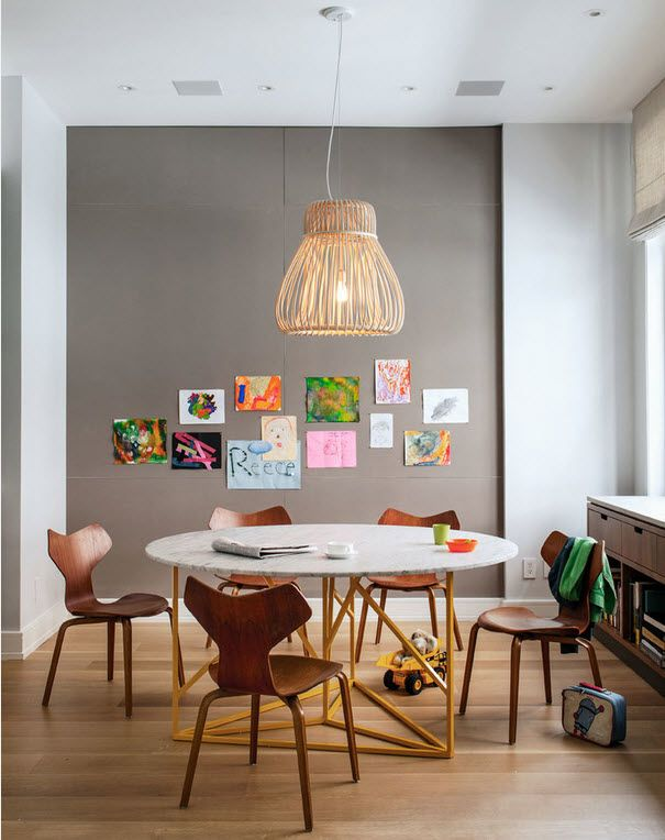 Proper Childrens Room Lighting Advice Photos of the modern designed grayish kids room study zone