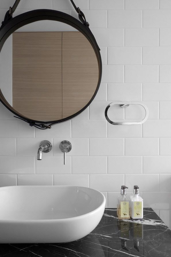 Neat design of the sink and top in the bathroom