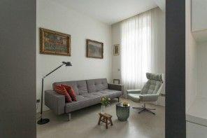 Small 150 Square Feet German Apartment Interior Design Ideas. Resting zone