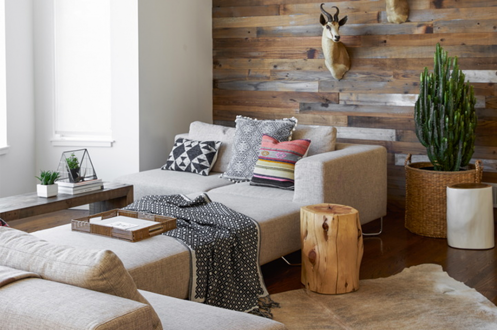 Animalistic and wooden interior in the US