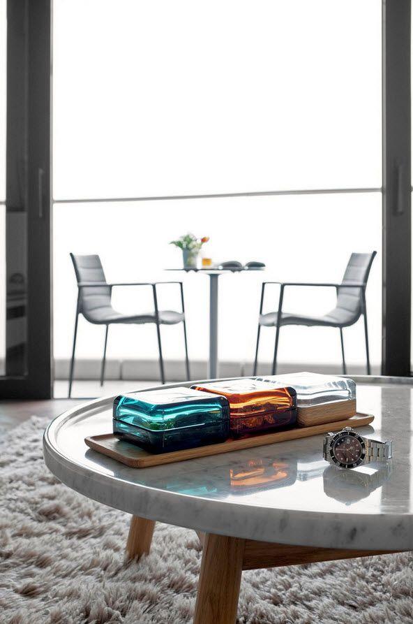Shanghai Apartment Interior Design Ideas. Futuristic elements and matte surfaces