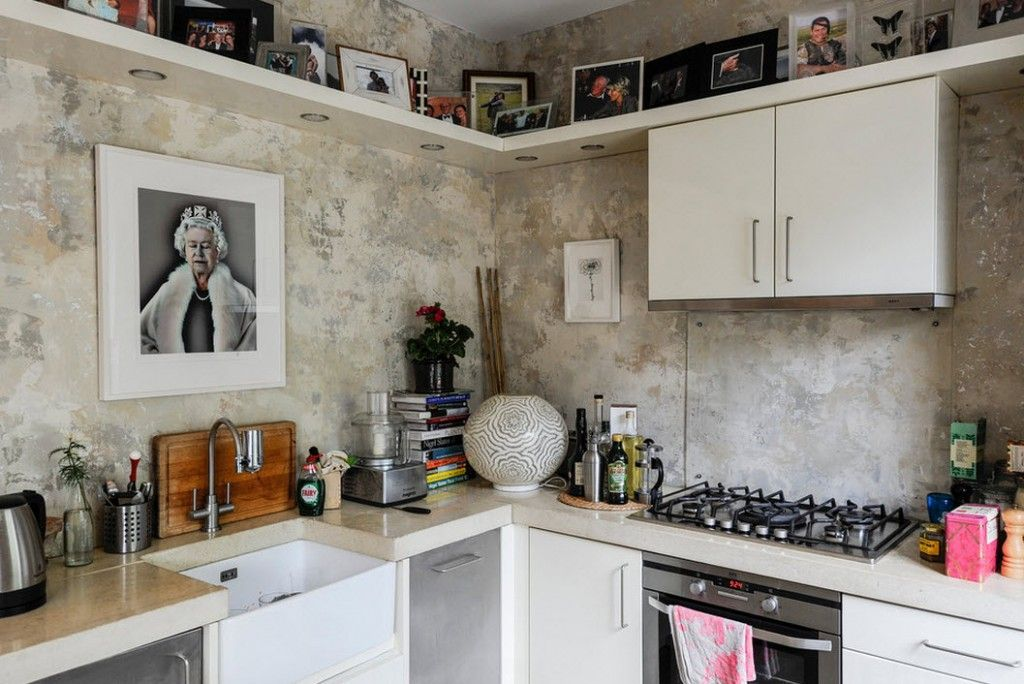 London Apartment Eclectic Interior Design Ideas. Eclectic kitchen in detail