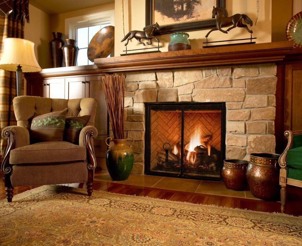 Modern Interior Fireplace Main Types. Semi-open desgin