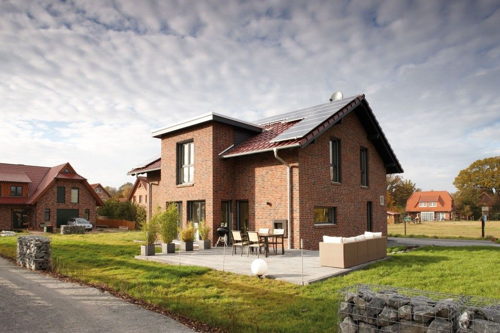 German Brick House Decorating Ideas. Exterior look on the house