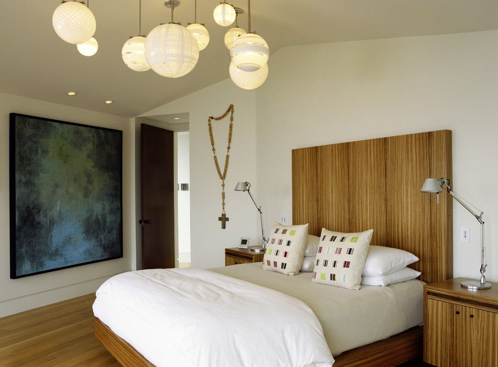 Proper Bedroom Interior Lighting Schemes Photos wooden headboard in the white premises