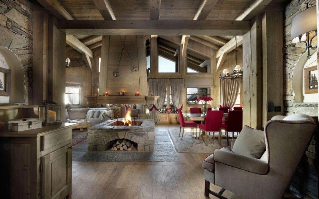 Modern Interior Fireplace Main Types. Swiss or Alpine type