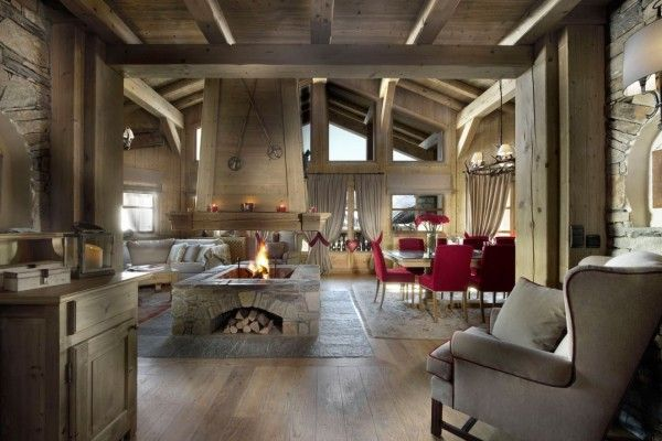 Modern Interior Fireplace Main Types. Swiss or Alpine type