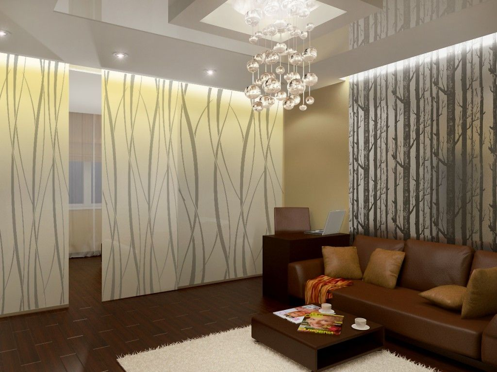 Modern Living Room Zoning Methods Collection Sliding Doors For Separation Of The Area
