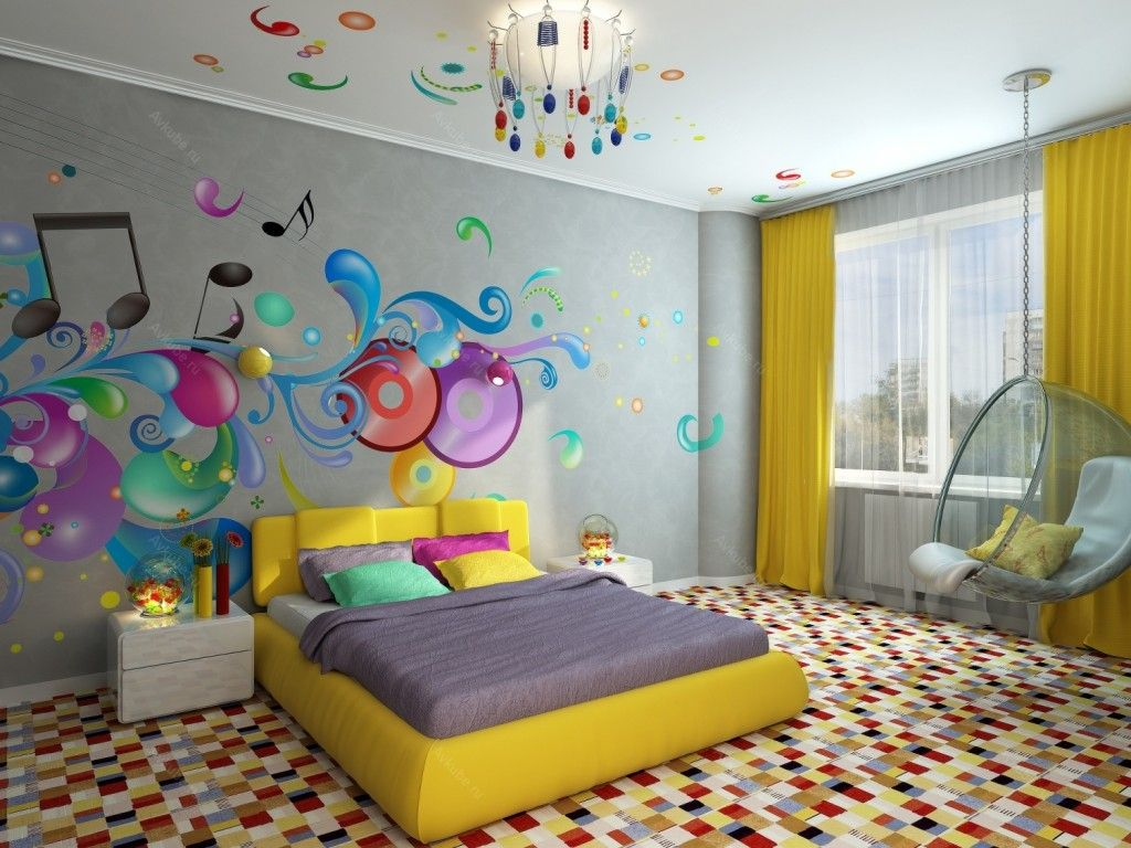 Modern Interior Pictures Placement Advice. Wall painting in marine theme