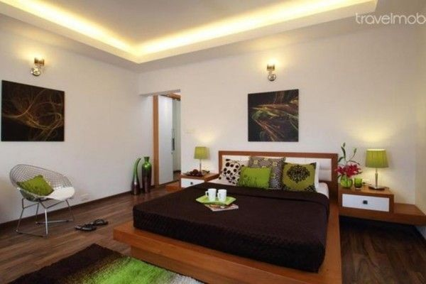 Proper Bedroom Interior Lighting Schemes Photos. black and white interior with LED strips ceiling light