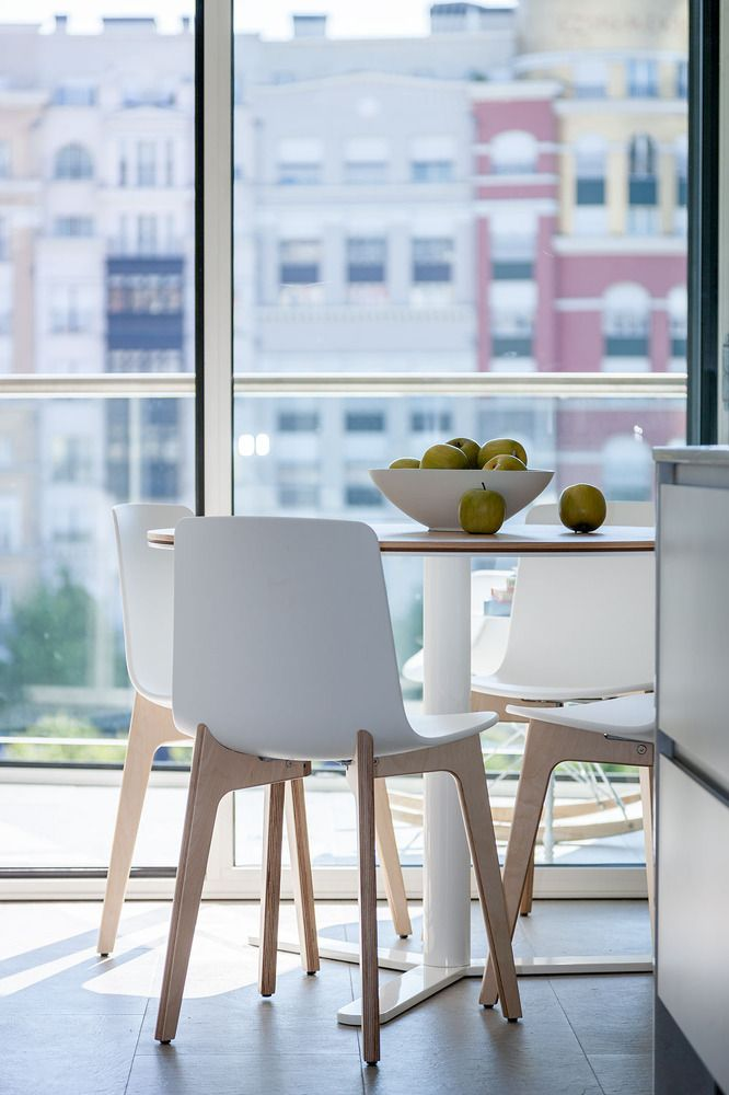 Any vegetables and fruits will fit perfectly to the interior of the white kitchen