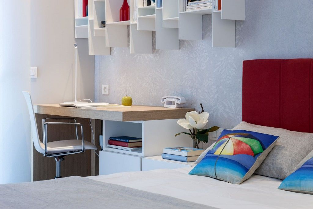Children`s of young couple bedroom interior in the Spain