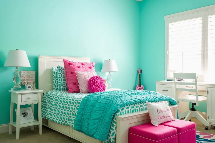 Aqua Color Bedroom Ideas Part - 24: Color Rooms Ideas Kids Room Interior Design Ideas 2015