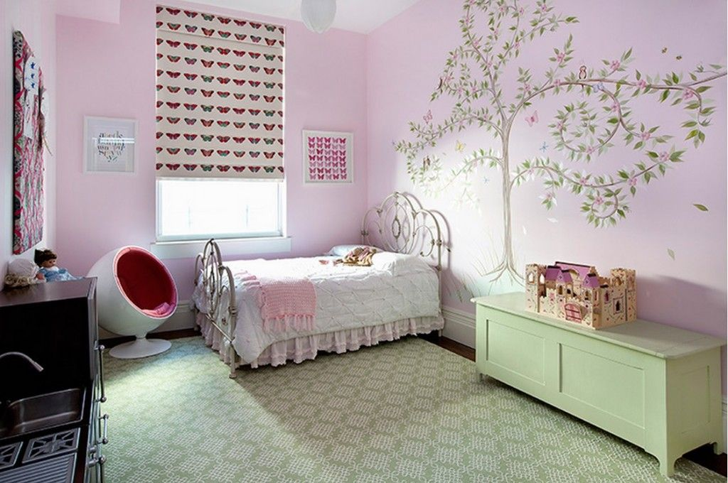 Сhildren`s Room Interior Design Ideas 2015. Calm colorful tones combination in the girls room