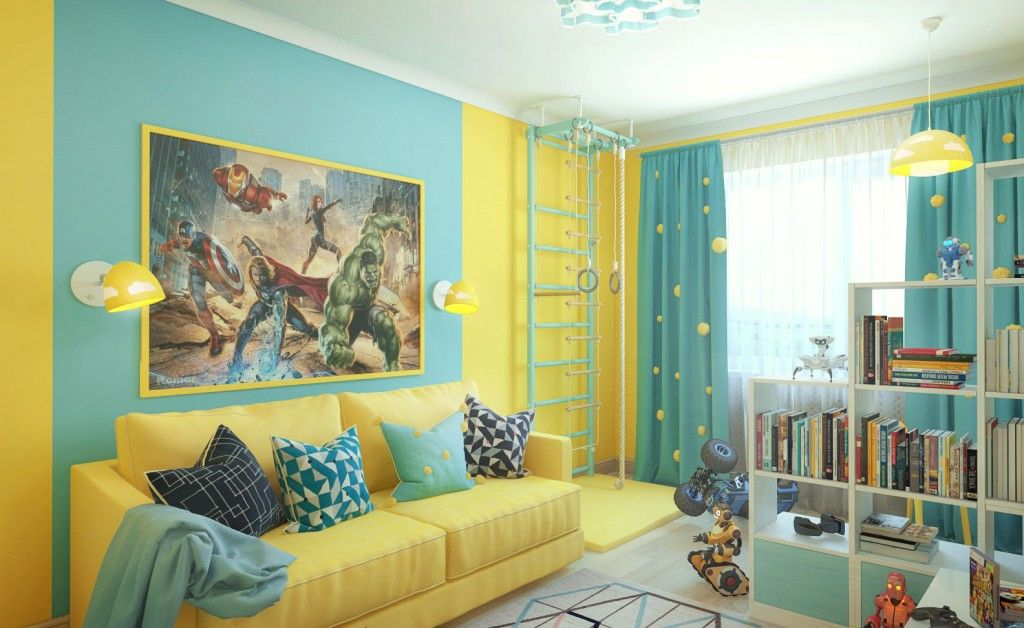Modern Interior Pictures Placement Advice. Yellow and turquoise room theme