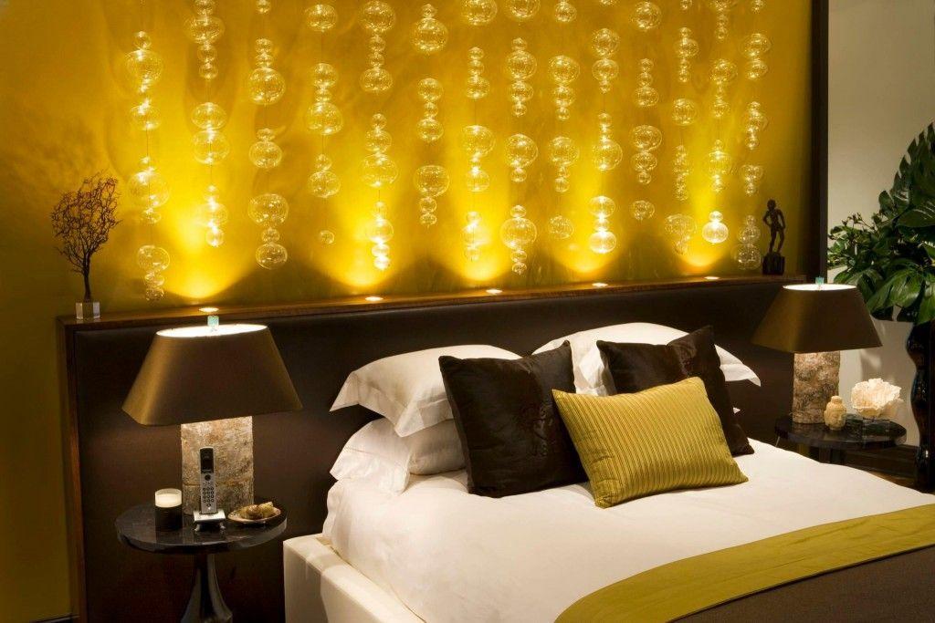 Proper Bedroom Interior Lighting Schemes Photos. Spotlight lighting down up lightinh for mysterious atmosphere