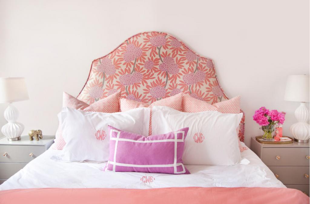 Pink women`s bed