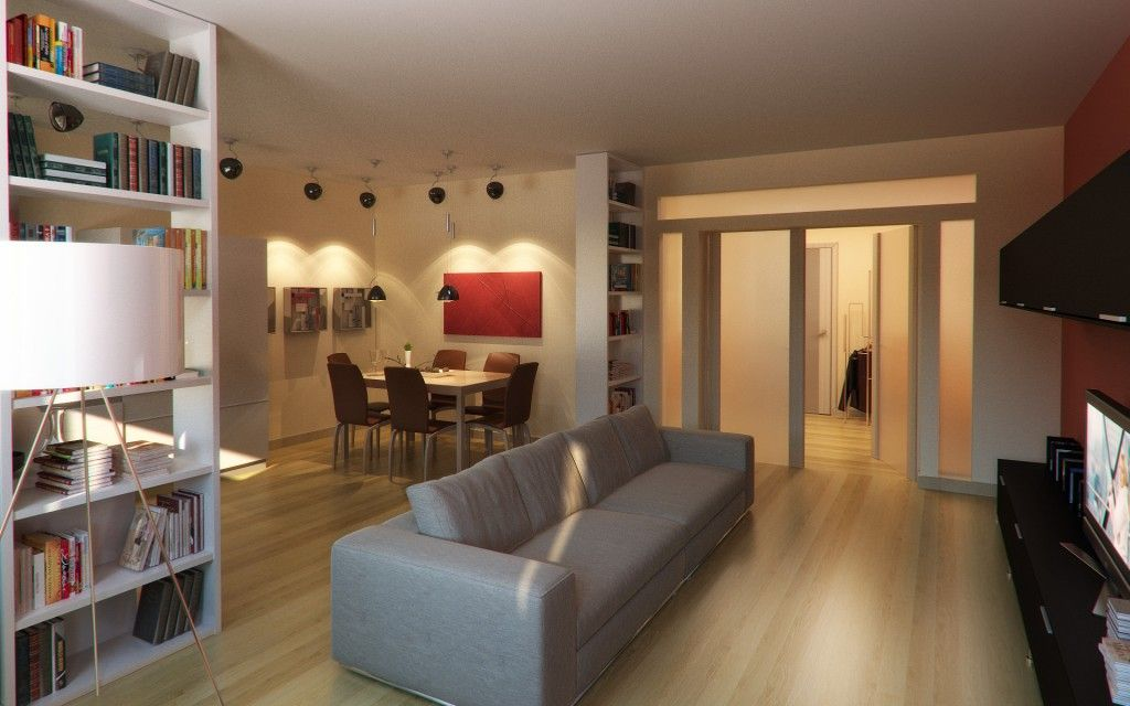 Modern Living Room Zoning Methods Collection. Lighting to highlight the room spaces