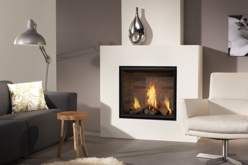 Modern Interior Fireplace Main Type. Modern minimalistic or hi-tech design