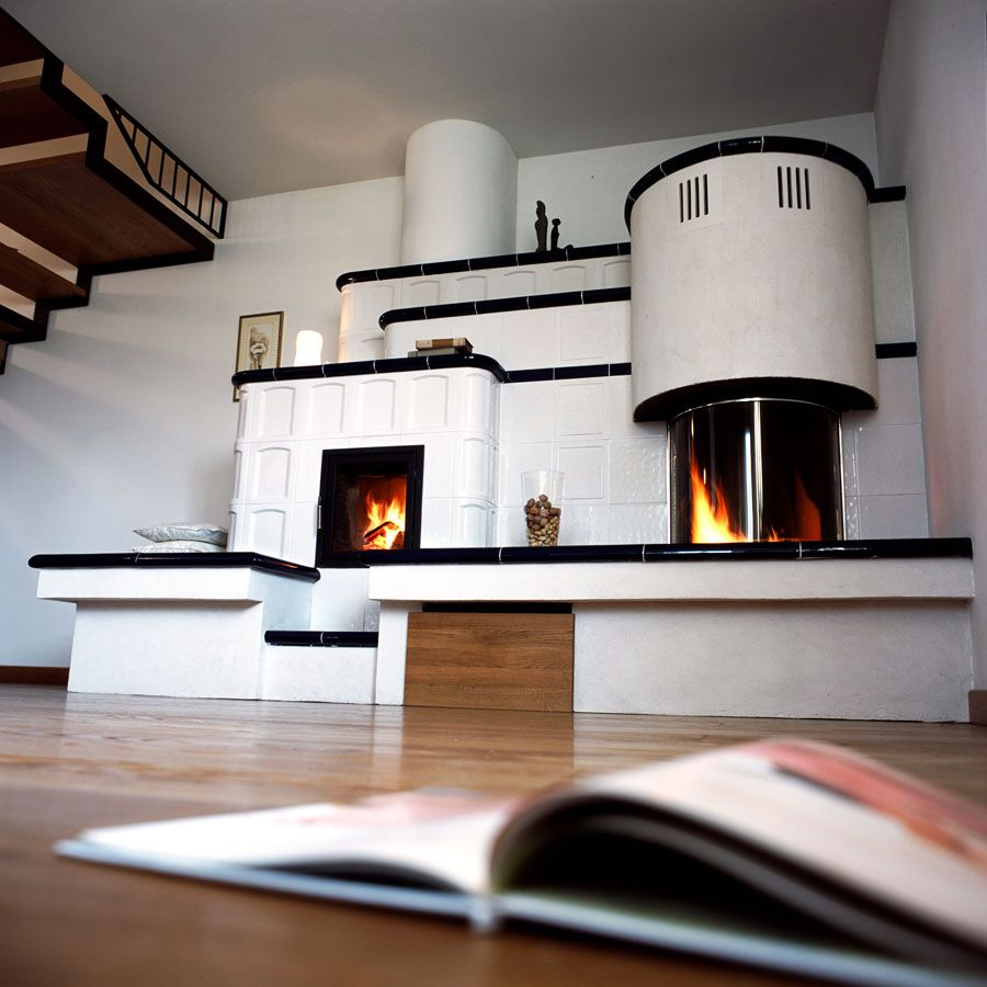 Modern Interior Fireplace Main Type. Bionic design