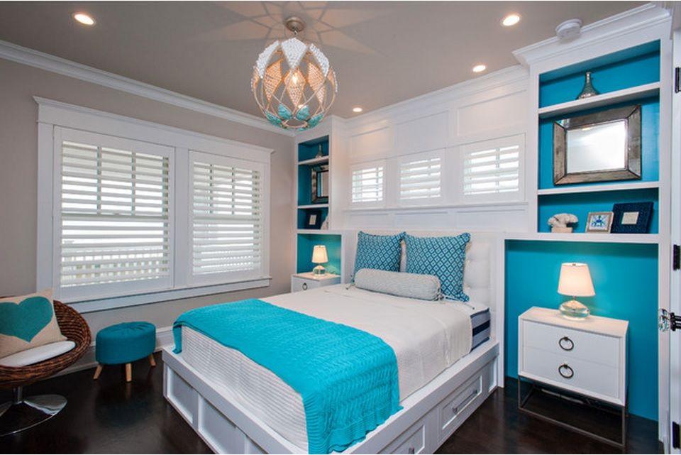 Сhildren`s Room Interior Design Ideas 2015. Turquoise bedspread