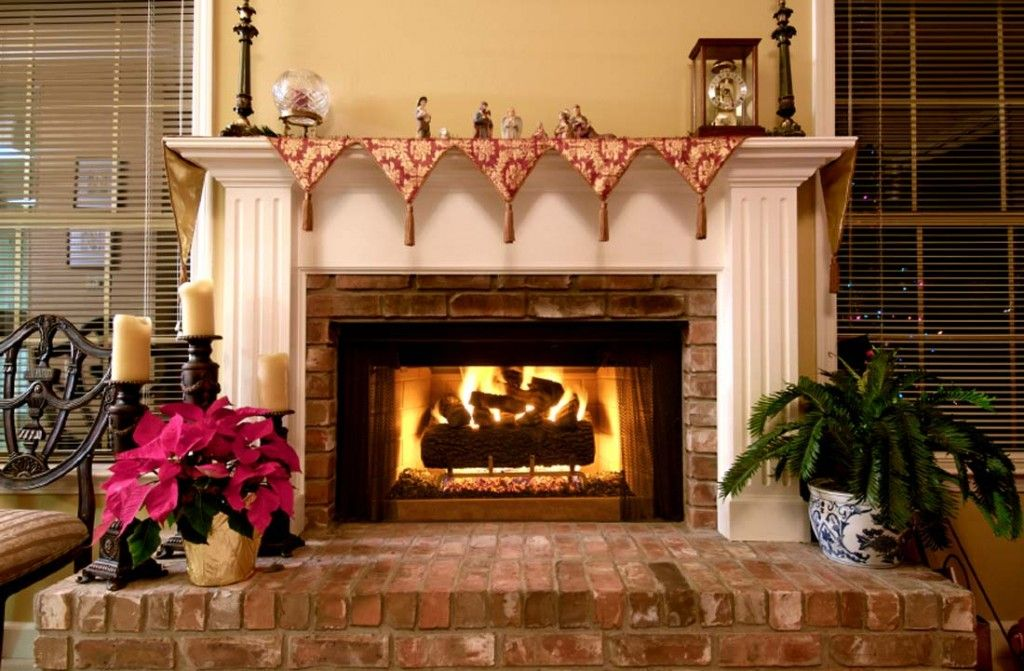 Modern Interior Fireplace Main Types. English type of the hearth