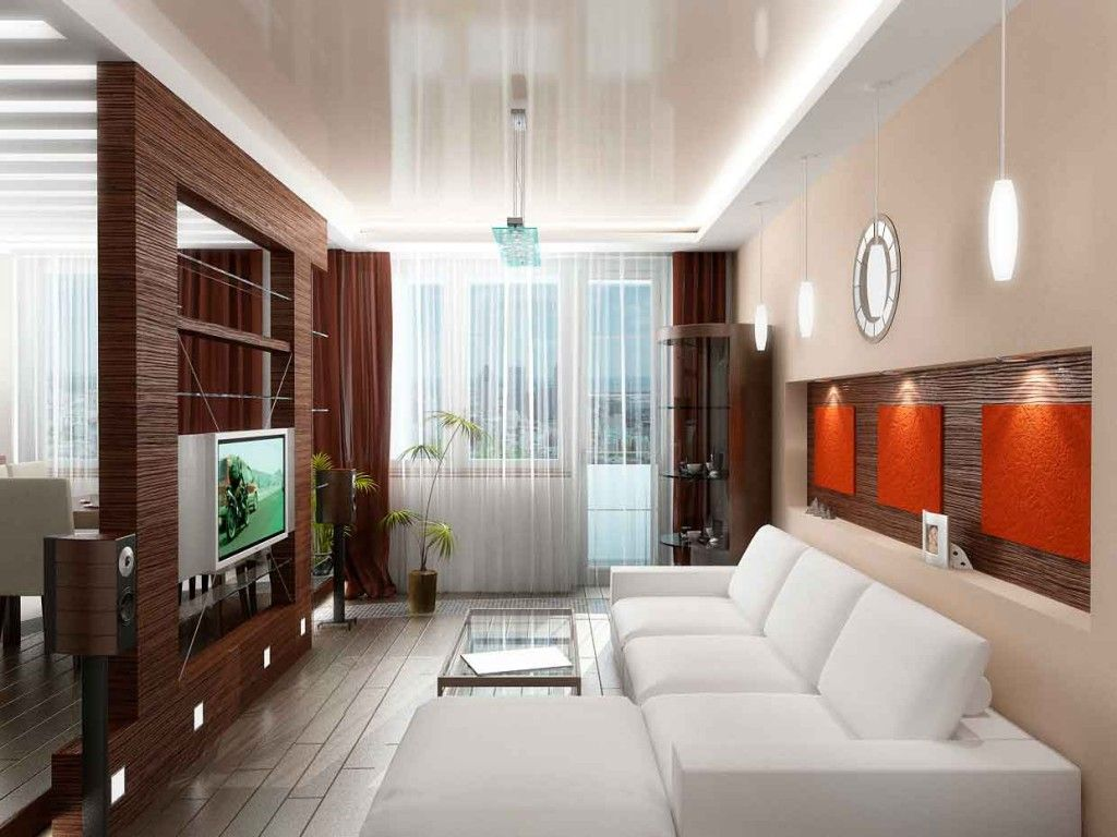 Living Room Lighting Placement Schemes. LED strip lighting of the ceiling