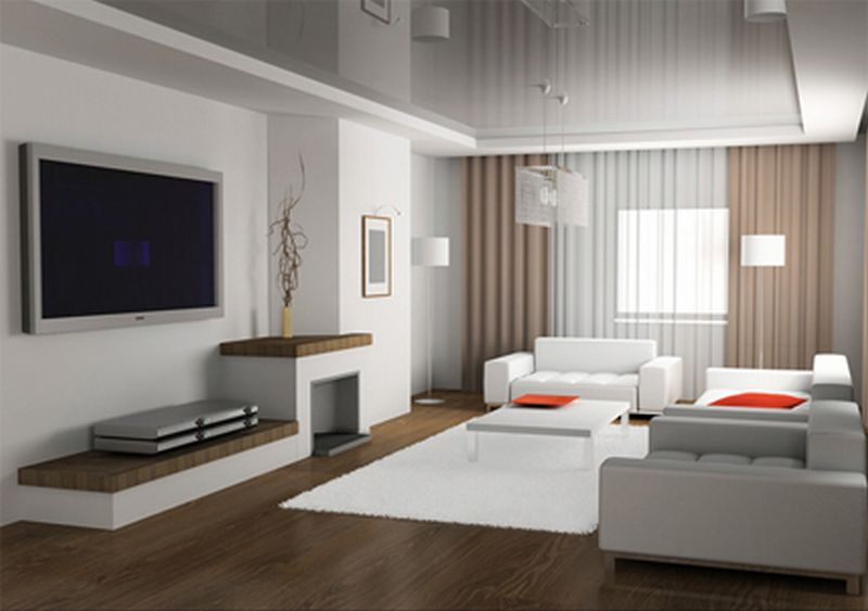 Minimalism style in the living room interior