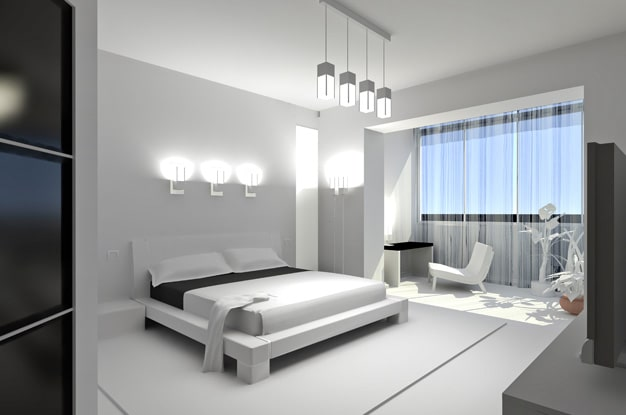 Minimalism style in the bedroom