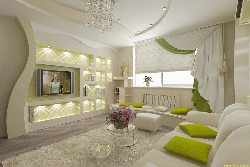 Living Room Lighting Placement Schemes. Mixed lightin in the fresh natural colored interior