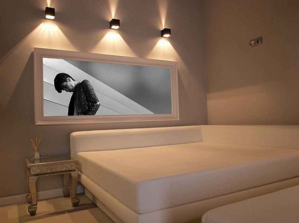 Proper Bedroom Interior Lighting Schemes Photos. Original lighting of the big picture