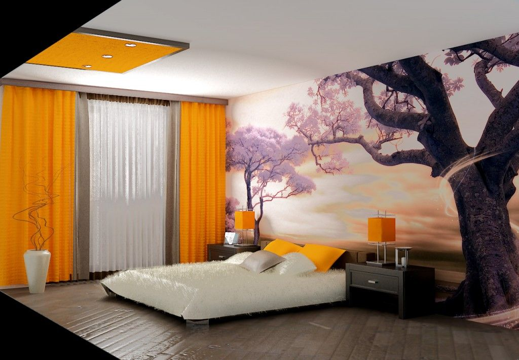 Modern Interior Pictures Placement Advice. Photowallpaper or wall painting counts