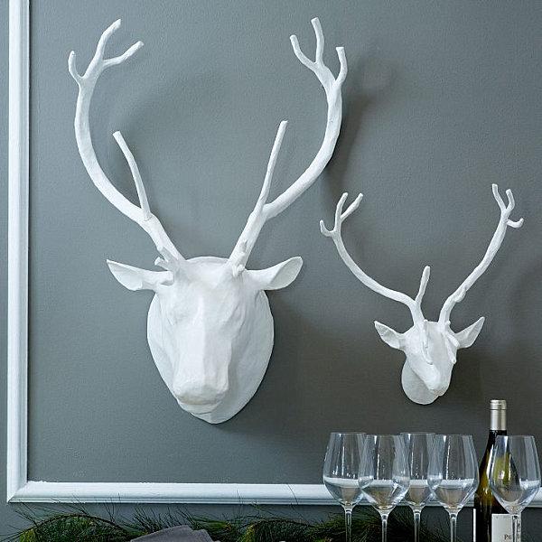 Papier-mache antlers