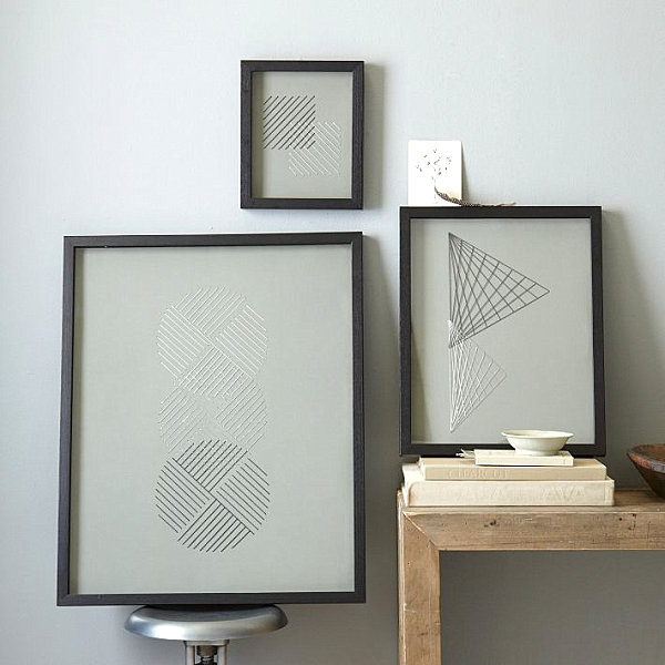 Art objects in frames for interior reviving