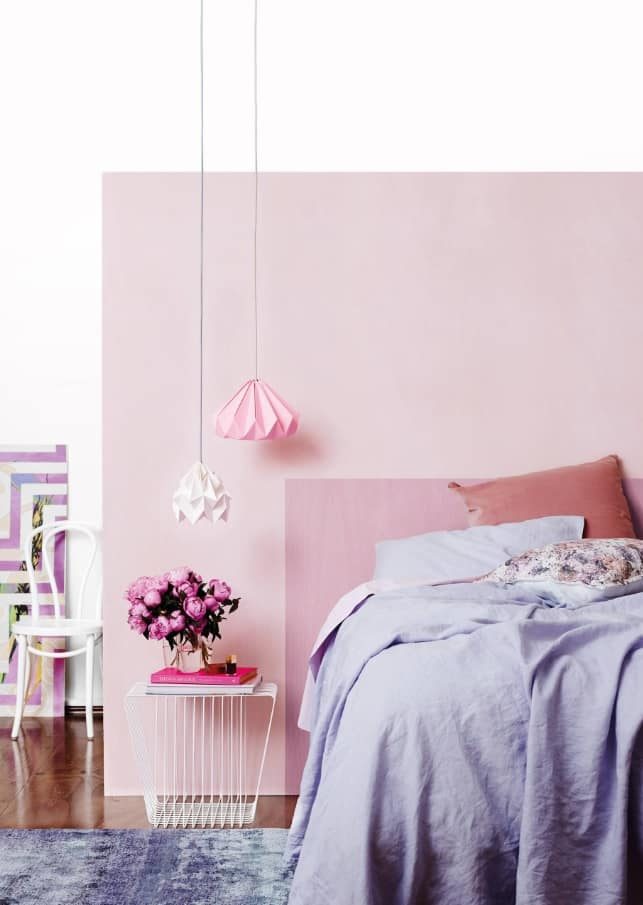 Pinkish design in the simple decorated women's bedroom