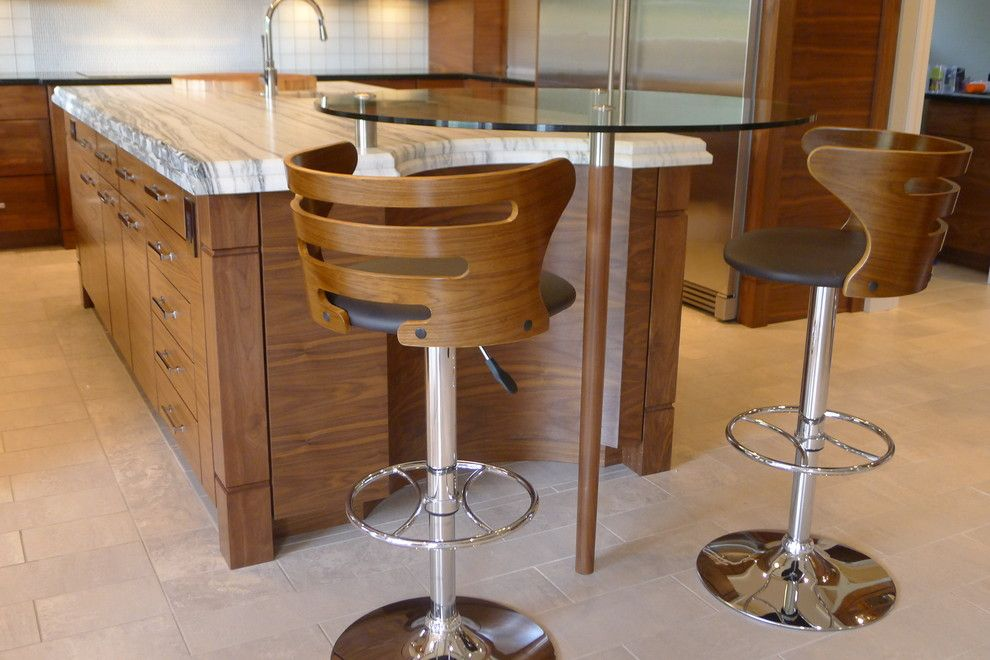 Bar Stools Decorating Bar Counter Kitchen Layout. Modern wooden model of the chair