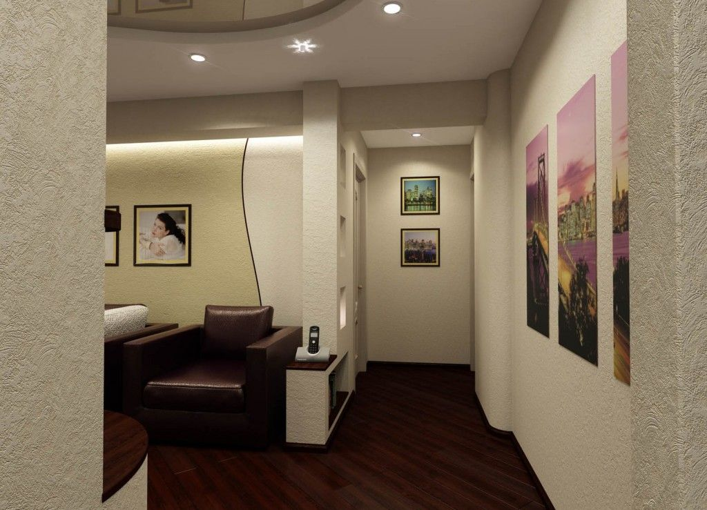 Modern Living Room Zoning Methods Collection. Corridor and Living separation