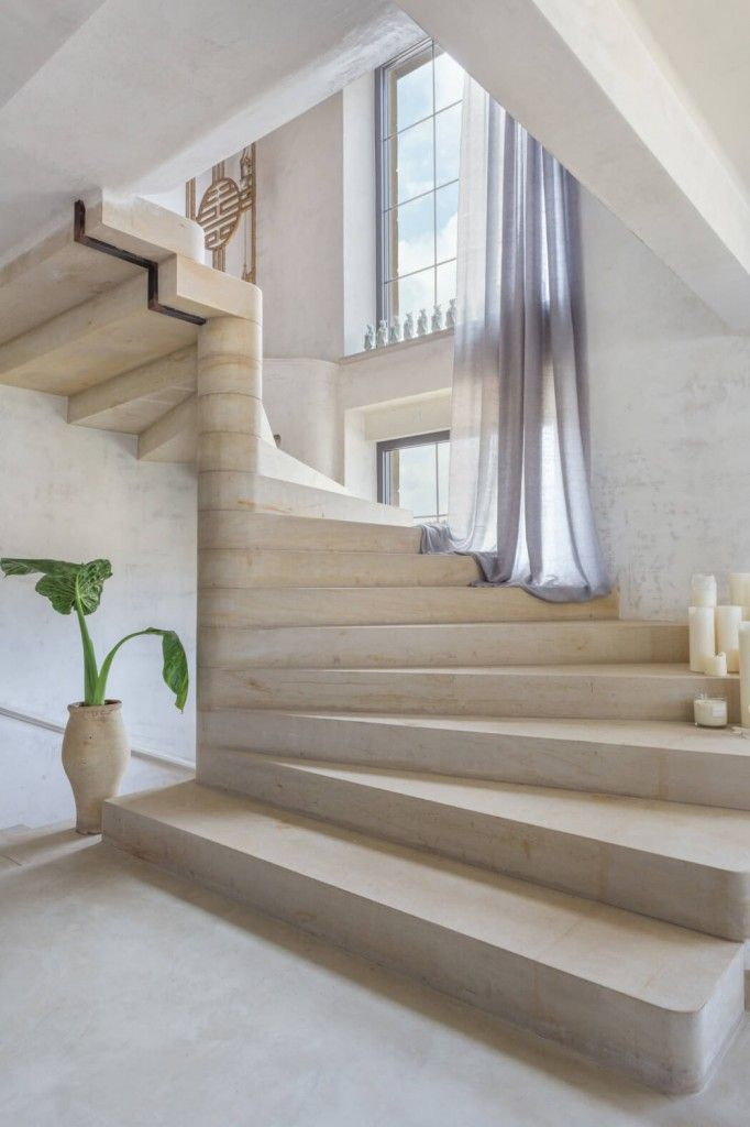 Modern Interior Staircase Materials Photo of the stone staircase built interior